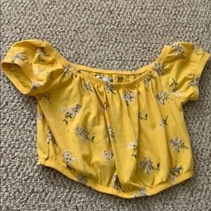Hollister yellow cropped top